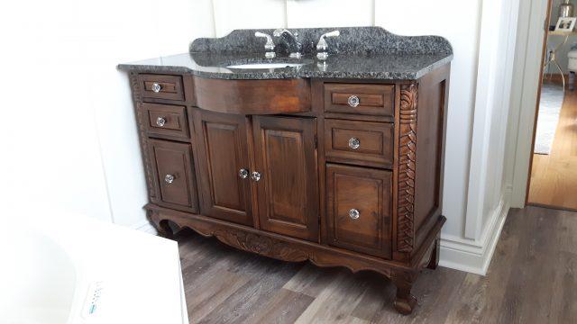 Antique wooden vanity - Antique Wooden Vanity Lloyd's Refinishing